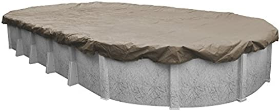 Pool Mate 571833-4 Sandstone Winter Pool Cover for Oval Above Ground Swimming Pools, 18 x 33-ft. Oval Pool