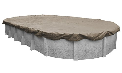 Pool Mate 571224-4 Sandstone Winter Pool Cover for Oval Above Ground Swimming Pools, 12 x 24-ft. Oval Pool