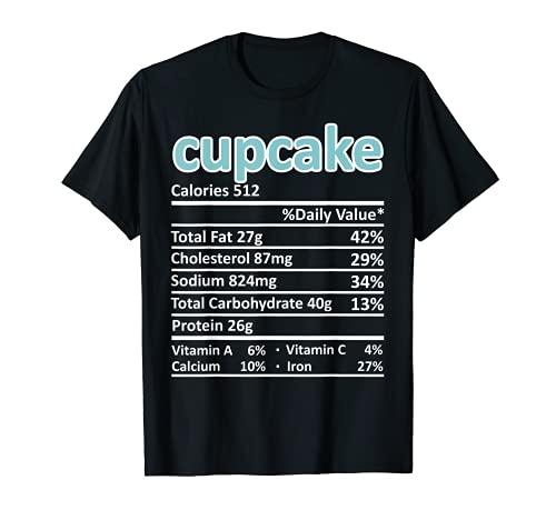 Cupcake Nutrition Divertido Disfraz de Accin de Gracias Comida Navidad Camiseta