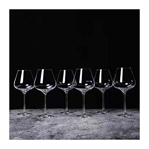 Juego De 6 Copas De Vino Sopladas A Mano, Juego De 6 Vasos De Cristal Transparente Sin Plomo, Copa De 29 Oz para La Cena De Bodas De Fiesta