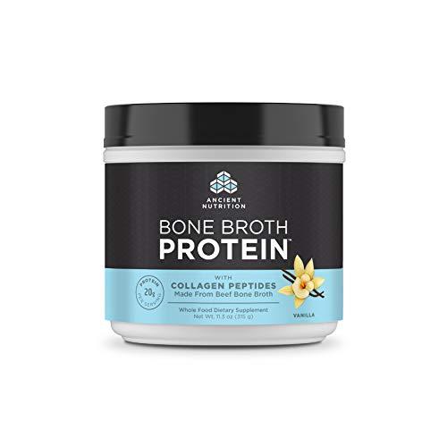 Ancient Nutrition Bone Broth Protein Powder, Vanilla Flavor, 30.2oz …