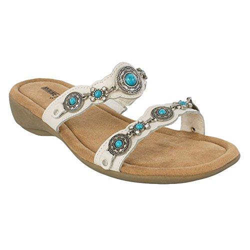 Minnetonka Womens Boca Slide III Sandale Blanc Taille 7