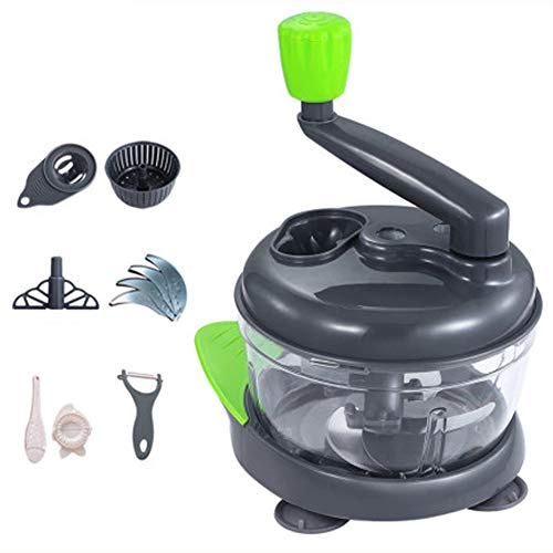 XIAOLI Household Manual Meat Grinder, Dumpling Stuffing, Kitchen Hand-crank Vegetable Stirrer, Vegetable Chopper, Cut Pepper Minced Meat Artifact