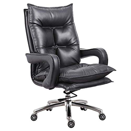 Kaper Go Sillas Silla ejecutiva Silla Silla de Oficina Silla Chica Offce hogar del Ordenador del Respaldo sillas de E-Sports Presidente (Color : Black, Size : 114-119cm)