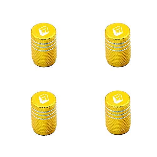 4 Piezas Coche Neumáticos Tapas Válvulas Tapones de válvula con Logo para Renault Megane 2 3 Duster Logan Clio Laguna 2 Captur