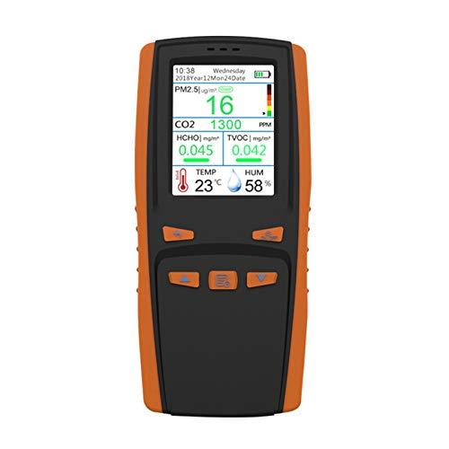 LHQ CO2 Meter TVOC Kohlendioxid-Detektor High Sensitive Temperatur-Feuchtigkeits-Sensoren Protable Gas Analyzer, Luftqualität Tester für Auto, Haus