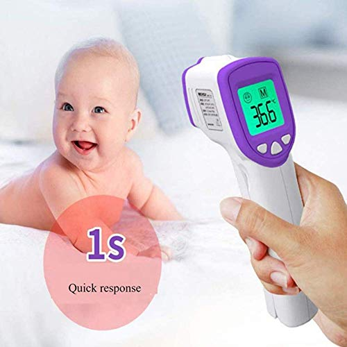 EEFRVDFFDE Smart Forehead Thermometer, No Touch Thermometers for Adults, Kids, Baby, in Fahrenheit & Celsius (Fahrenheit & Celsius, Purple)