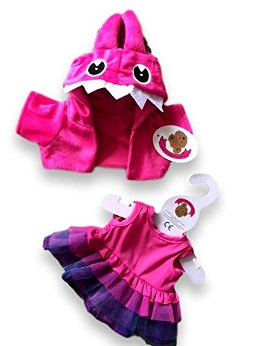 Build Your Bears Bekleidung für Plüschbär, Pinke Kreatur, 38 cm