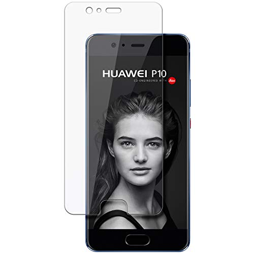 disGuard Schutzfolie für Huawei P10 [2 Stück] Kristall-Klar, Displayschutzfolie, Glasfolie, Panzerglas-Folie, Displayschutz, extrem Kratzfest, Schutz vor Kratzer, transparent