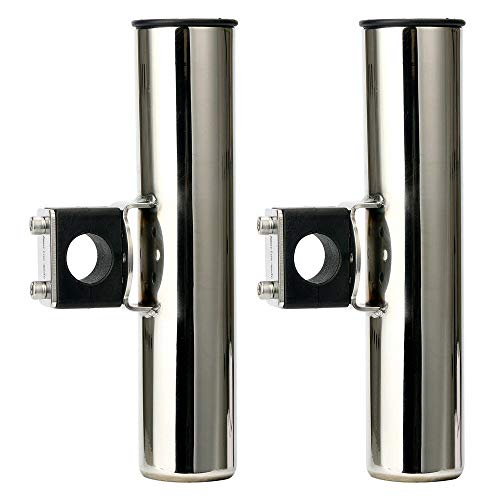 Amarine Made Stainless Rail Mounted Clamp on Rod Holder for Fishing Boat - 25mm Rail - 7744sx25 (2)