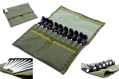 DD-Tackle Deluxe Bivvy Pegs 10 Stück 21 cm + Tasche