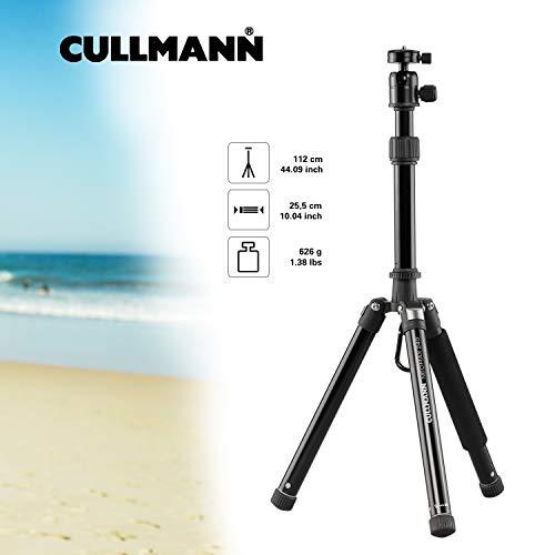 Cullmann Neomax Reisestativ mit geringem Packmaß (25,5 cm), leicht, schwarz, 52524, Höhe: 112 cm