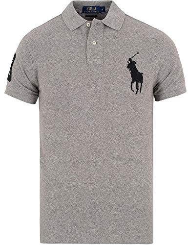 Polo Ralph Lauren Mens Big & Tall Mesh Classic Fit Big Pony Polo Shirt (LT, DarkVint)