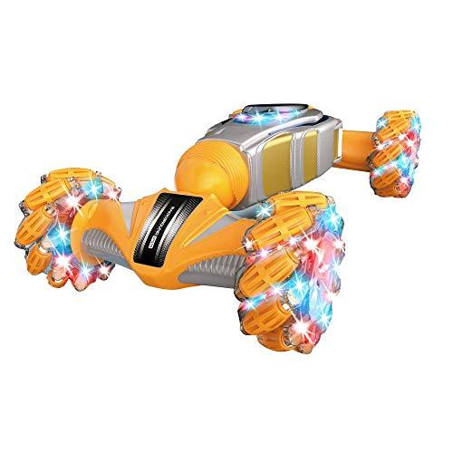 Gesto detectando truco twist car, control remoto deriva spray escalada fuera del vehículo fuera de la carretera con música ligera, suitab le para cualquier terreno, coches de juguete para niños y niña