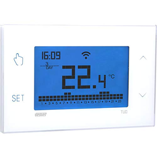 Vemer VE785700 Tuo Wi-Fi Lite Bianco Cronotermostato wi-fi settimanale da parete controllabile da smartphone con APP iOS e Android.