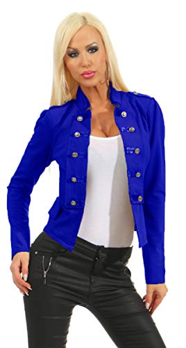 Fashion4Young 10218 Dames korte jas blazer jassen jas army-look military-stijl kraag