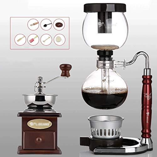 Manual Coffee Grinder -Siphon conjunto cafetera de café sifón totem cafetera olla sifón 3 tazas de máquinas de café de vacío zodiaco de la serpiente Haike WTZ012