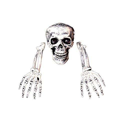 Gusspower Halloween-Dekoration, 2017 Kreativ 3 Stück Halloween Grausigkeit begraben Lebend Skelett Schädel Garten Hof Rasen Dekos