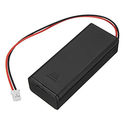Módulo electrónico Soporte de batería de 2 sección para baterías AAA 7 con interruptor y pH2.0 Línea de terminal 6.5 * 2.8 cm Equipo electrónico de alta precisión