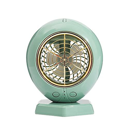 JKLJL Ventilador USB,Mini Ventilador,Ventilador de Escritorio para el hogar,Ventilador eléctrico con atomizador humidificador,Adecuado para Dormitorio,Cocina,Sala de Estar,etc,Verde