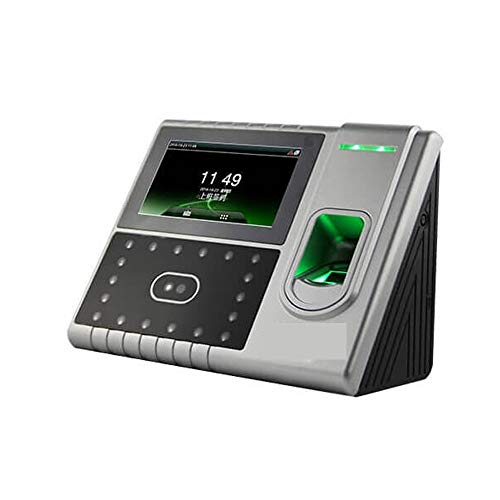 HEQIE-YONGP Timeuhren für Mitarbeiter Kleinunternehmen 4,3-Zoll-TFT-Touch-Screen-Gesichtserkennung Bio-Fingerprint Zeiterfassung
