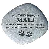 Pet Headstone Memorial Stone Grave Marker 12' Large...