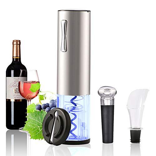 Elektrischer Korkenzieher Set,LACYIE 5 Sekunden Automatische Flaschenöffner Schnurlos Weinöffner,USB Ladekabel Weinflaschenöffner Set mit Wine Folienschneider,Vakuum Stopper,Ausgießer