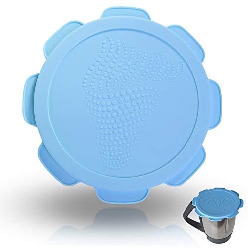 Couvercle en silicone étanche à l'eau, à l'air et aux odeurs pour Thermomix TM5 TM6 Friend, sans BPA - l'original (Skinny-dip Blue)
