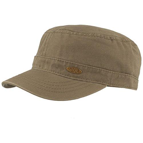Fiebig Army-Cap | Schirmmütze | Kuba-Kappe im Military-Stil – aus 100% Baumwolle mit UV Schutz 50 – Größenverstellbarer Klettverschluss – Hautfreundlich & Bequem