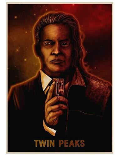 H/P Classic Horror Tv Series Twin Peaks Sherilyn Finn Retro Art Poster Home Cafe Decorative Mural Frameless 50X70Cms690