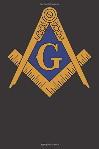 """Freemason Journal: 120 Page 6"""" x 9"""" Blank Lined Journal, Dairy, or Notebook with Compass Artwork"""