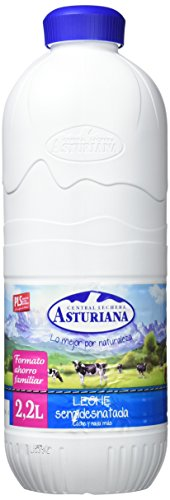 Central Lechera Asturiana - Leche UHT Semidesnatada - Botella 2,2 L - , Pack de 6
