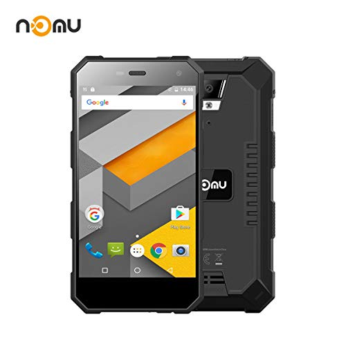 Nomu Outdoor Handy S10Pro, Wasserdichtes Telefon International Freigesetzter IP68 5.0 Zoll FHD Android 7.0 4G Doppelter SIM 3G RAM 32G ROM 5.0MP + 8.0MP Doppelkamera 5000mAh Batterie (Schwarzes)