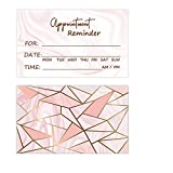 RXBC2011 Appointment Reminder Cards Marble pink and gold Pack of 100