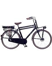 Amigo E-Pulse Elektrische fiets voor heren, 28 inch, herenfiets met 3 versnellingen, naafschakeling, 250 W en 13 Ah, 36 V Li-ion-accu, zwart