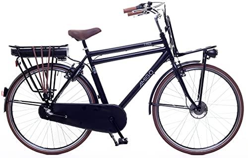 Amigo E-Pulse - Elektrofahrrad für Herren - E-Bike 28 Zoll - Herrenfahrrad mit Shimano 3-Gang - Nabenschaltung - 250W und 13Ah, 36V Li-ion-Akku - Schwarz