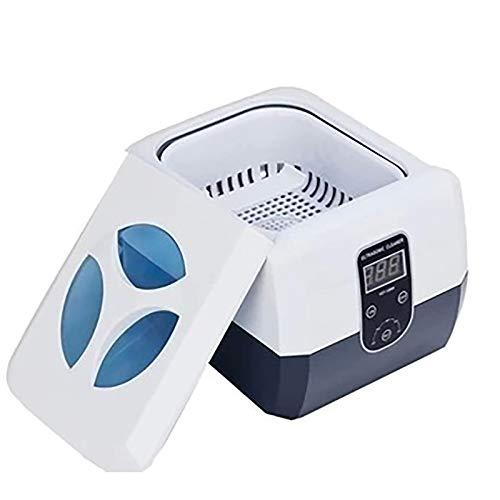 Huachaoxiang Ultraschallreinigungsgerät, Brille Ultraschallreiniger Abnehmbarer Tank Professionell Ultraschallbad Schmuckreinigungsgerät Ultraschallreinigung,Weiß
