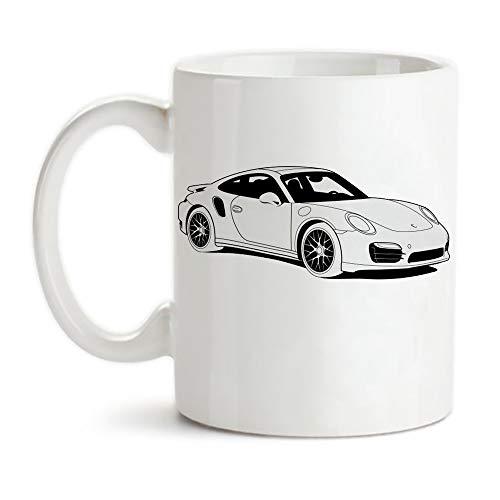 PerfectPrintedAQA - Porsche 911 Turbo S Type 991 Mug, 11oz Ceramic Coffee Mug/Cup/Drinkware, High Gloss