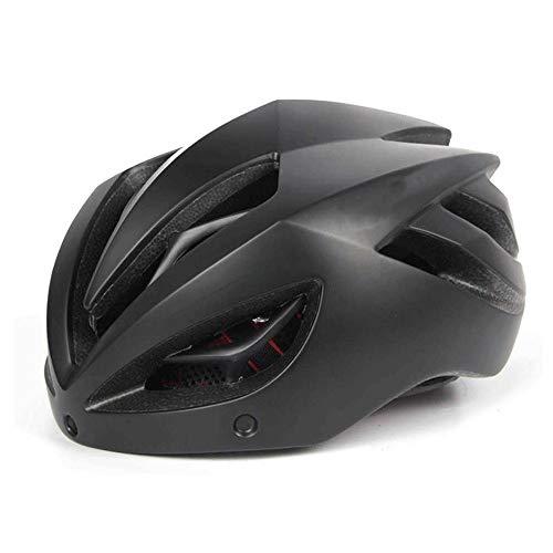 Adesign Verstellbarer Helm Specialized Berg & Straßenfahrradhelm for Fahrradhelm Keel Brille Gläser Männer und Frauen Sicherheit Hut Straße einen.Kreislauf.durchmachenausrüstung (Color : Black)