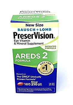 PreserVision AREDS 2 Eye Vitamin & Mineral Supplement  210 ct  with Lutein and Zeaxanthin Soft Gels