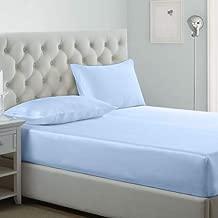 iBed home Fitted bedsheet 3Pcs Set, Microfiber,King Size, Pastel Blue