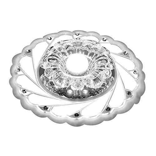 Lámpara de Techo de Cristal Acrílico en Forma de Flor de 5W para Dormitorio, Sala de Estar, Pasillo(Luz Fría)