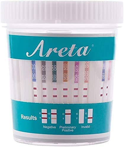 Areta 12 Panel Instant Test Cup - ACDOA-6125B - 12 Pack -...
