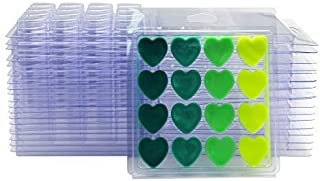 DGQ Wax Melt Molds Heart Shape - Clear Wax Molds Plastic Wax Melt Clamshells (25-Packs)