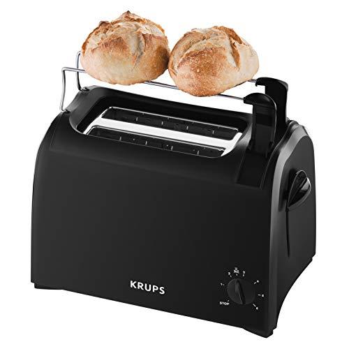 Krups Toaster Pro Aroma KH1518 | Krümelschublade | 6 Bräunungsstufen | Hebe-Funktion | 2 Schlitze für 2 Scheiben | 700 W