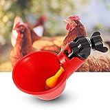 Jeffergarden - Lote de 5 piezas de bebedero de gallinas, acero inoxidable automático en agua, lado horizontal, maelones, pollo, conejo, bebedero y bebedero para agua potable