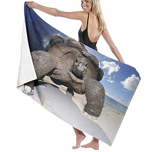 Toalla Shower Towels Beach Towels Patrón de tortuga de playa gigante Toalla De Baño 80X130CM