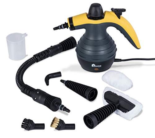 Version 2019: OVM Power 2500 Handdampfreiniger Handdampfer Dampfente Dampfreiniger Steam Cleaner (schwarz-gelb)
