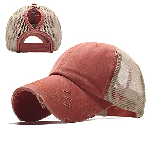 ppstyle ponytail baseball cap retro