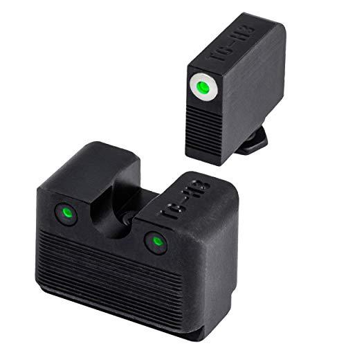 TRUGLO Tritium Pro Glow-in-The-Dark Handgun Night Sights for Glock Pistols, Glock MOS 20, 21, 25, 28, 29 and More, White Ring